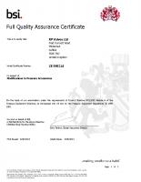 PED 97/23/EC BSI Certificate