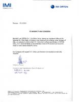 Orton Official Stockholder Letter