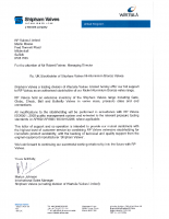 Shipham Authorised Stockholder Letter