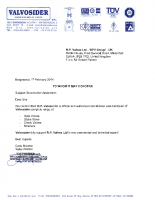 Valvosider Authorised Stockholder Letter